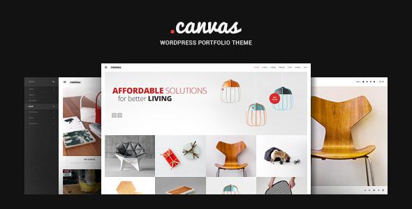 ThemeForest Canvas Interior & Furniture Portfolio WP Theme 10508369