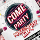 Summer White Night Party Flyer Template - GraphicRiver Item for Sale