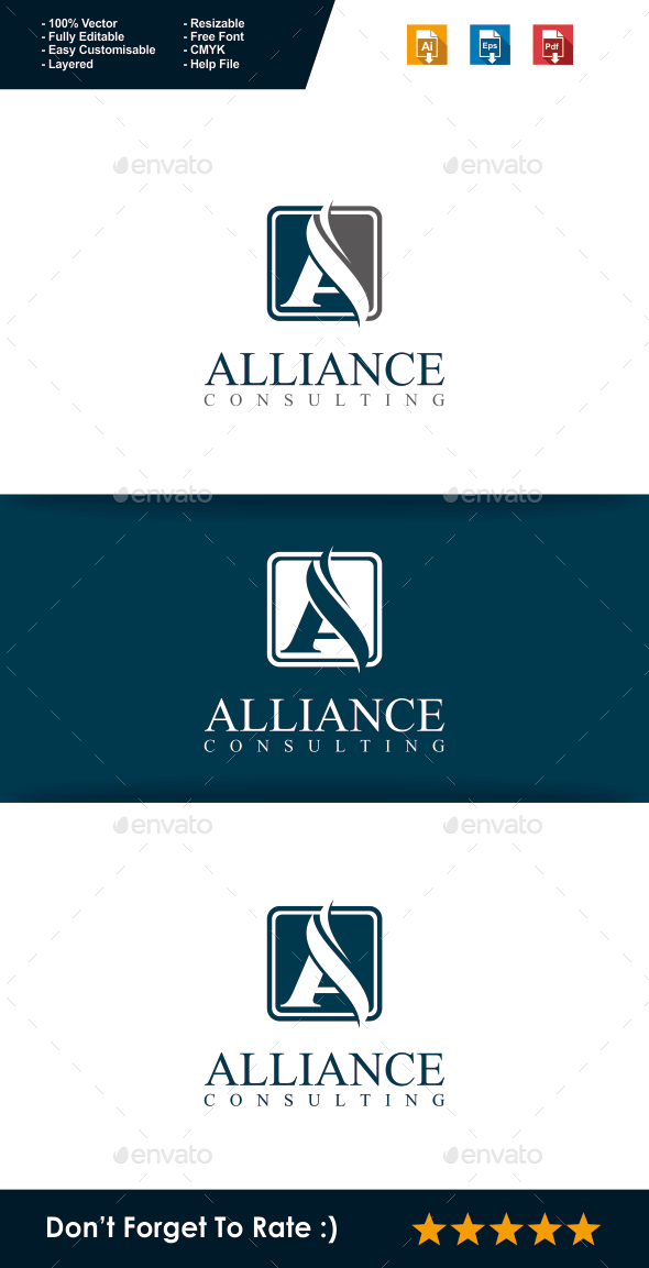 GraphicRiver Alliance Letter A Logo 10508455