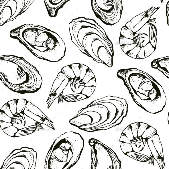 GraphicRiver Seafood Pattern 10508554