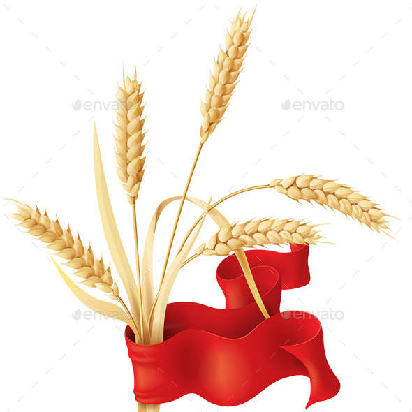 GraphicRiver Wheat Ears with Ribbon 10508864