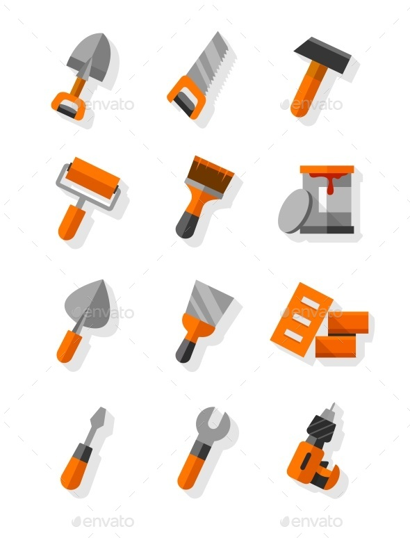 GraphicRiver Working Tools For Construction and Maintenance 10508880
