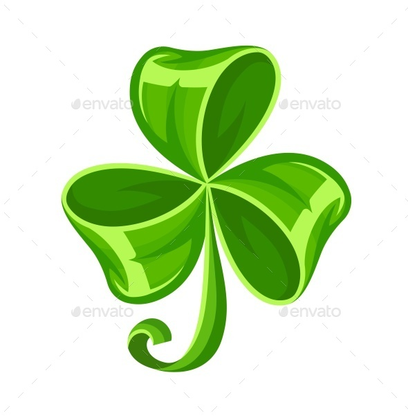 GraphicRiver Shamrock Bow Made of Green Ribbon 10508982