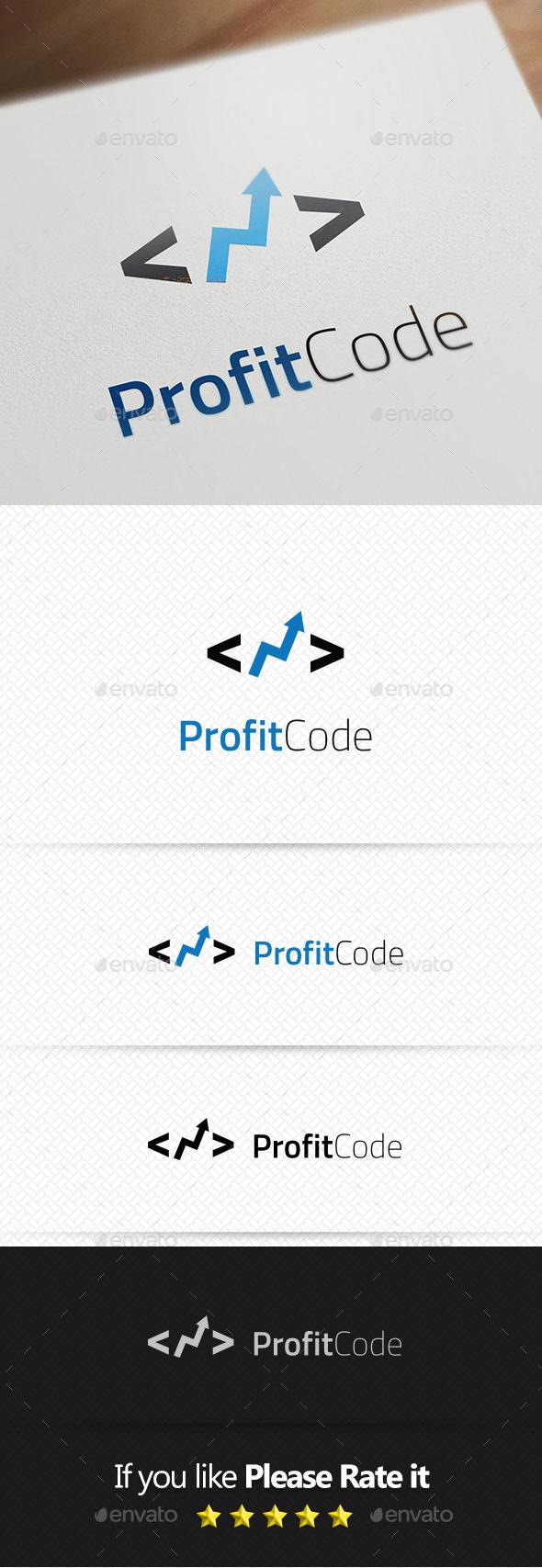 GraphicRiver Profit Code Logo Templates 10509059