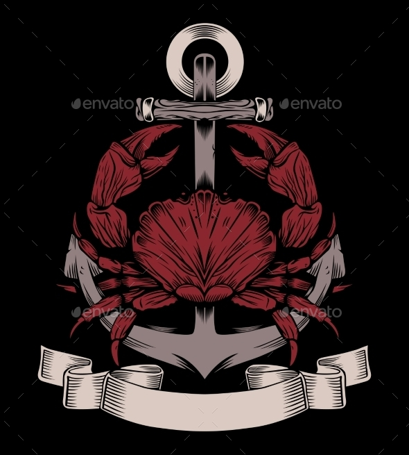 GraphicRiver Anchor with Crab 10509172