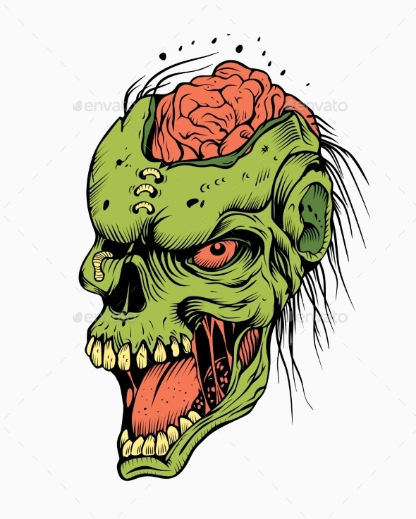 GraphicRiver Illustration of a Zombie 10509177