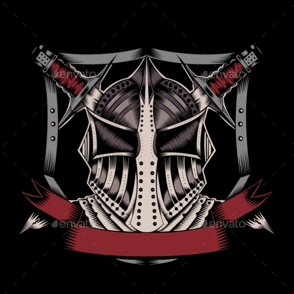 GraphicRiver Illustration of Mask with Swords 10509181