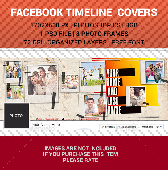 GraphicRiver Polaroid Facebook Timeline Cover v23 10509206