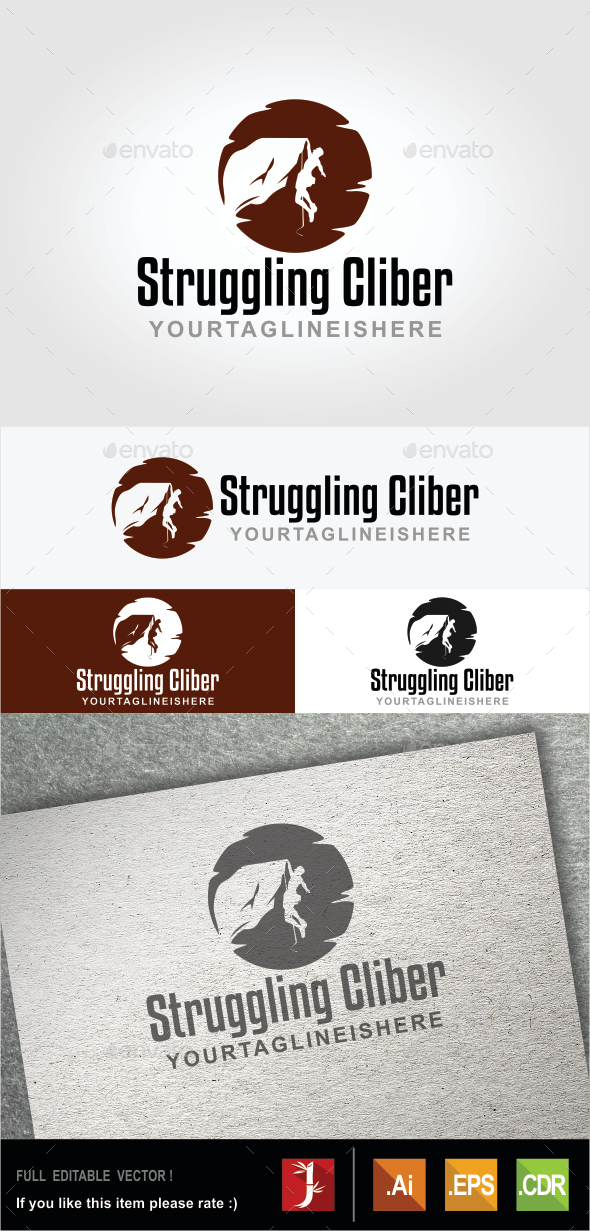 GraphicRiver Struggling Climber 10509220