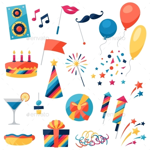 GraphicRiver Celebration Set 10509244