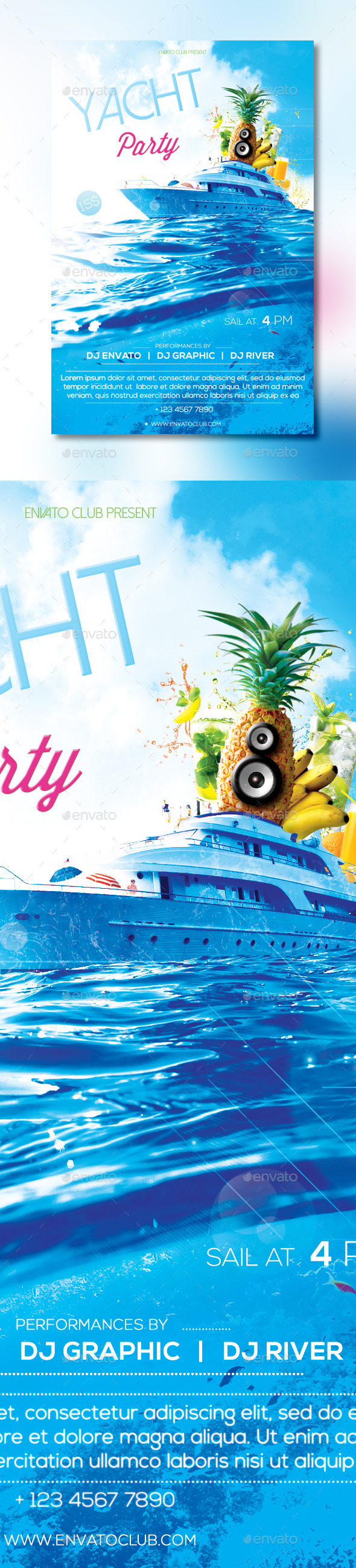 GraphicRiver Yacht Party Flyer 10509274