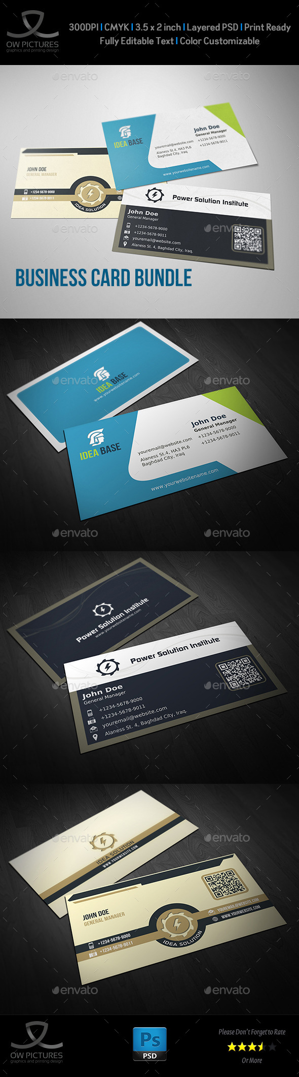 GraphicRiver Corporate Business Card Bundle Vol.7 10509289