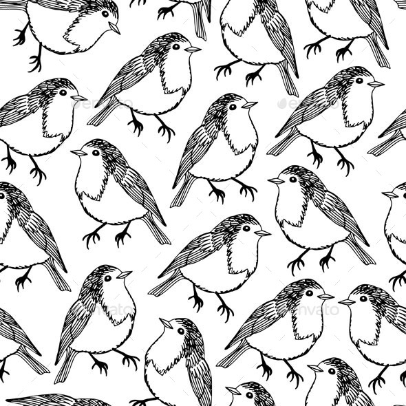 GraphicRiver Bird Pattern 10509327