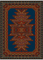 Oriental Carpet with Original Pattern on a Blue Background - PhotoDune Item for Sale