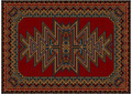Oriental Carpet with Original Pattern on Red Background - PhotoDune Item for Sale