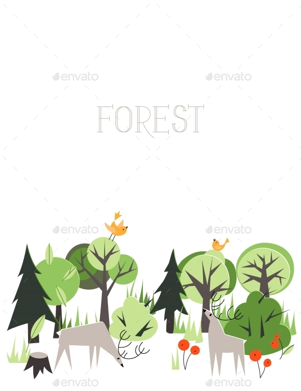 GraphicRiver Forest Animals 10509375