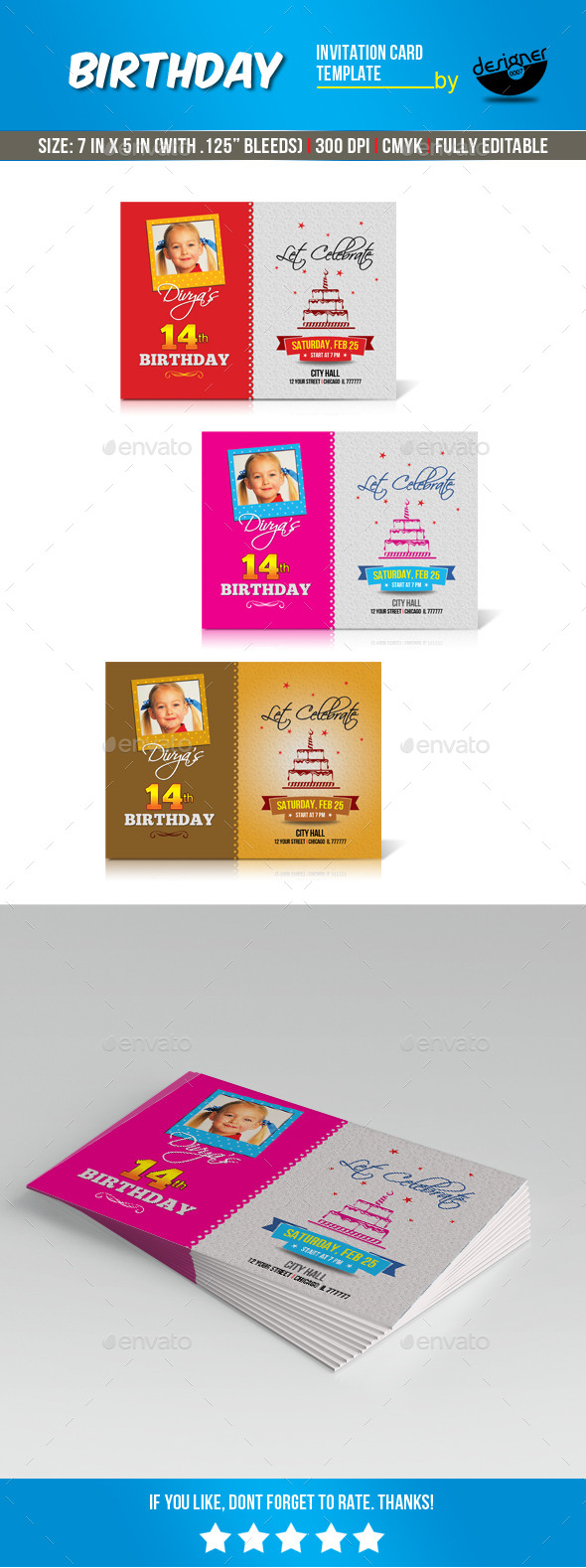 GraphicRiver Birthday Invitation Card Template 10509659
