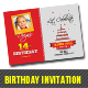 Birthday Invitation Card Template - GraphicRiver Item for Sale