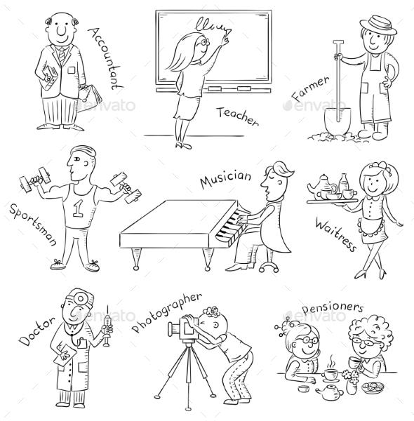 GraphicRiver Cartoon Profession Set 10509665
