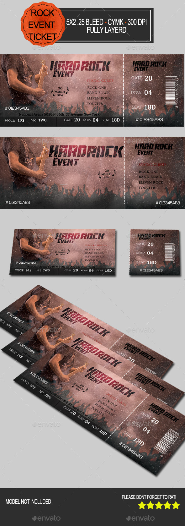 GraphicRiver Hard Rock Event Ticket 10509689