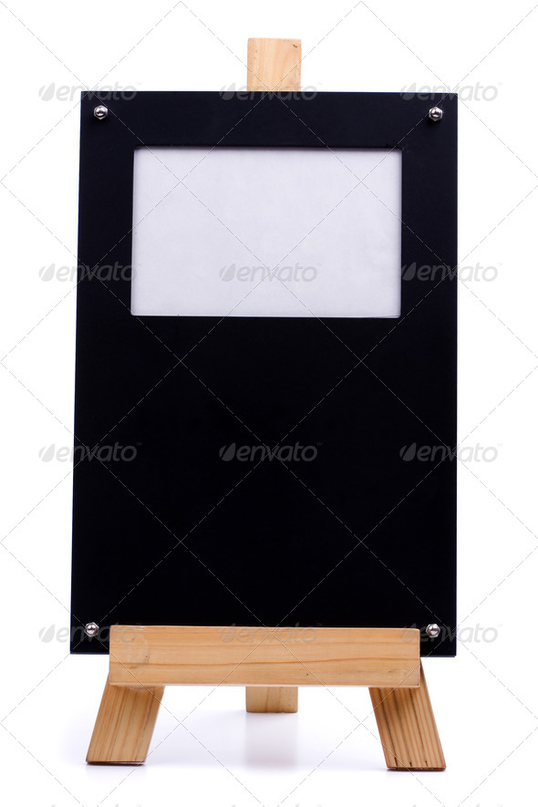 Chalk board photo frame - Stock Photo - Images