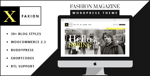 ThemeForest Faxion Fashion Magazine Theme 10509779