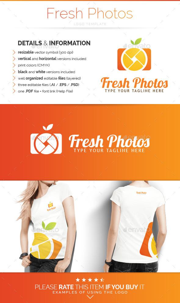 GraphicRiver Fresh Photos Logo Template 10509807