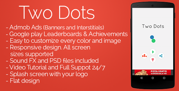 Two Dots - Admob + Leaderboards + Share