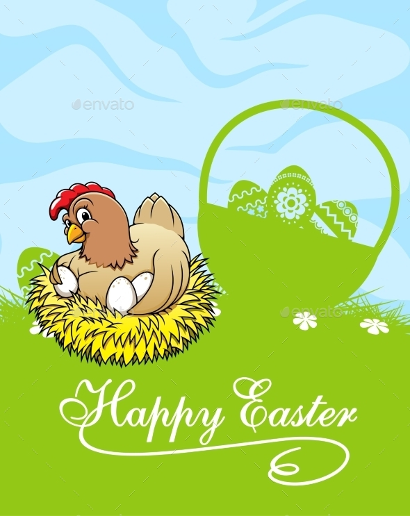 GraphicRiver Happy Easter Card 10509883