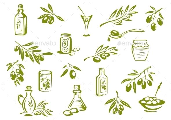 GraphicRiver Olive Oil Symbols 10509893