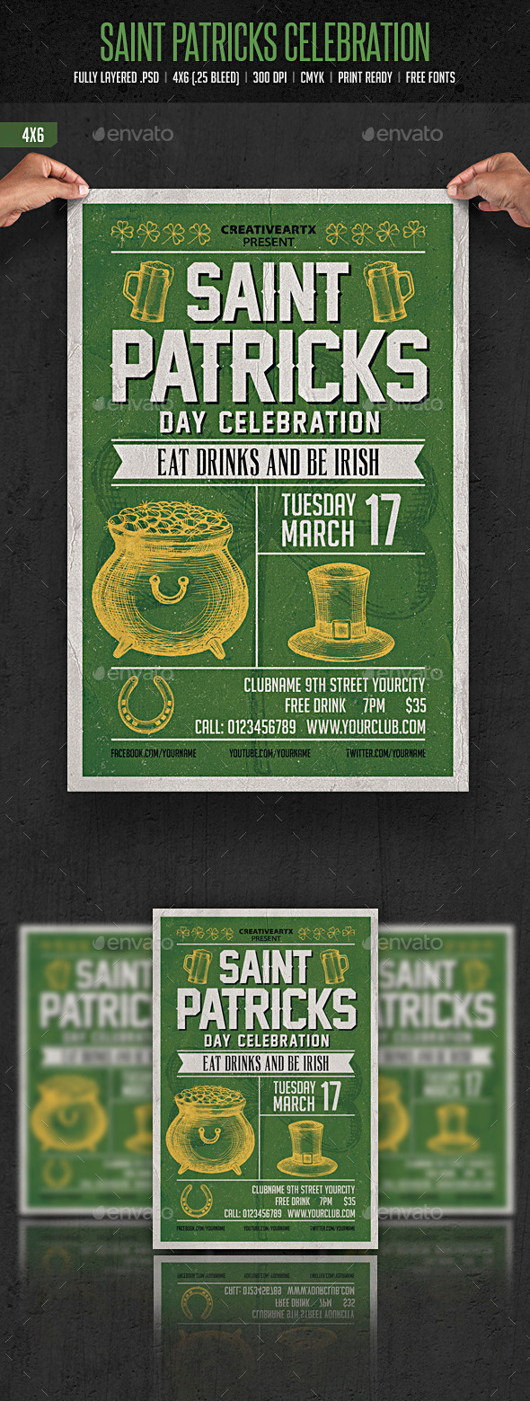 GraphicRiver St Patrick s Day Celebration 10510152