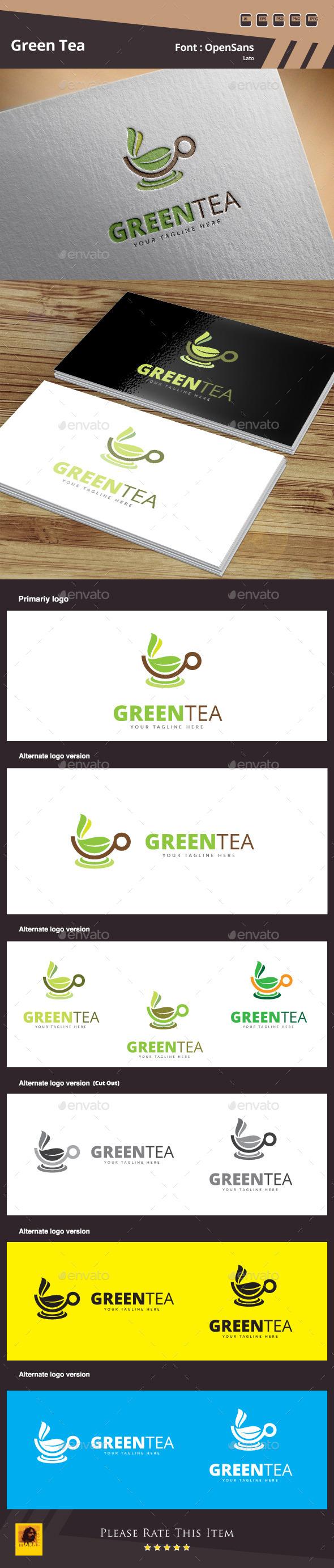 GraphicRiver Green Tea Logo Template 10510206