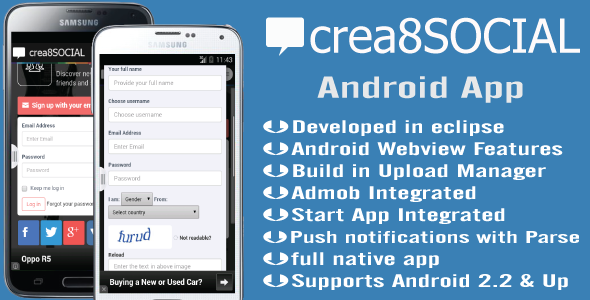 CodeCanyon Crea8social Android App 10456571