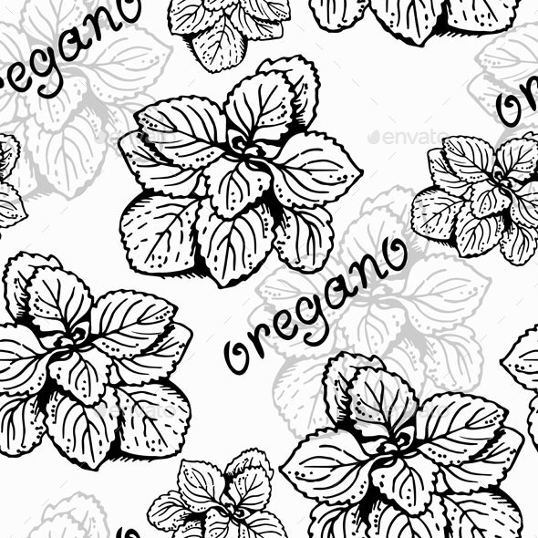 GraphicRiver Oregano Herb Pattern 10510240