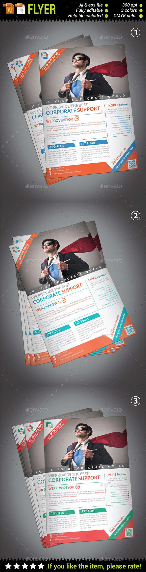 GraphicRiver Corporate Flyer Template 10510244