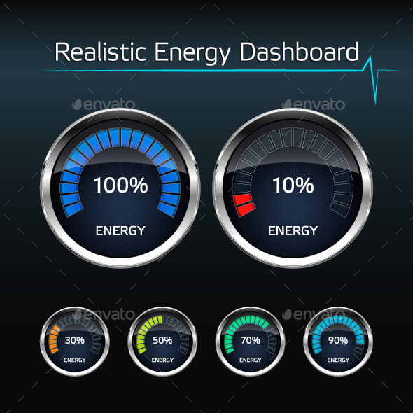 GraphicRiver Realistic Energy Dashboard 10510279