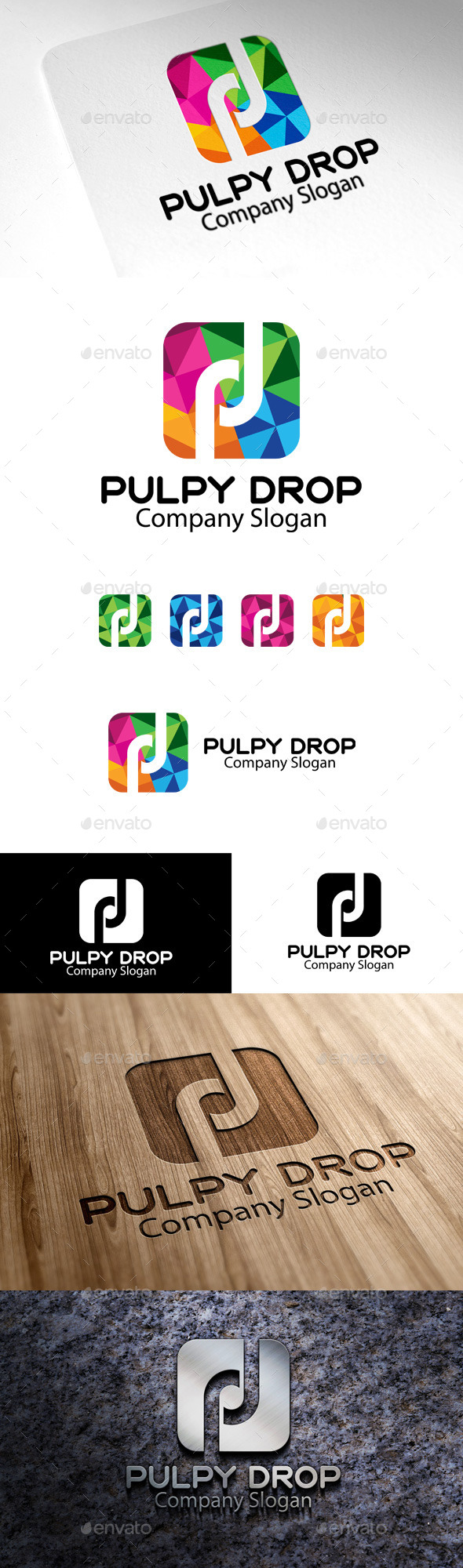 GraphicRiver Pulpy Drop P & B Letter 10510423