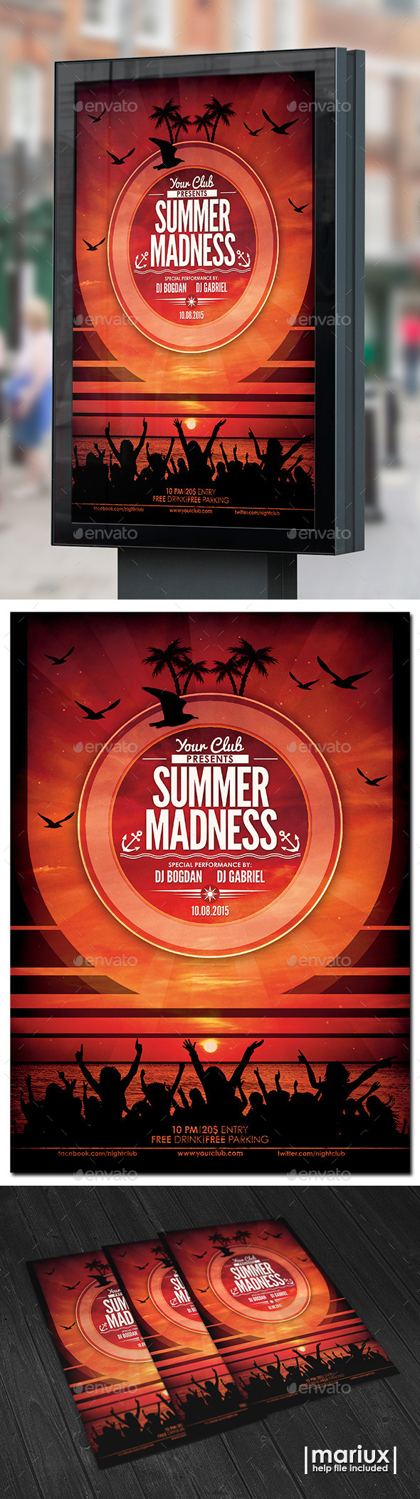 GraphicRiver Summer Madness Party Flyer 10510429