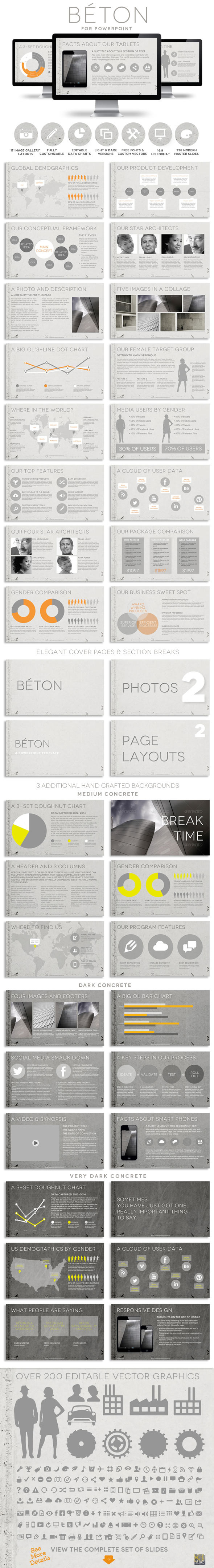 GraphicRiver Beton Powerpoint Presentation Template 10510868