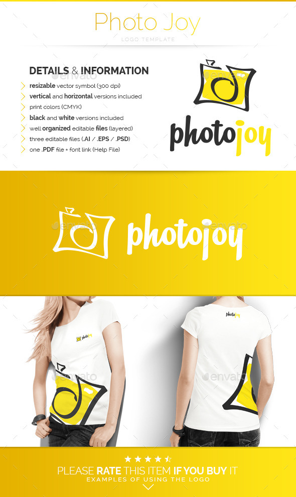 GraphicRiver Photo Joy Logo Template 10510900