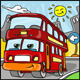 Cartoon Red Duble Decker Bus Character - GraphicRiver Item for Sale