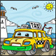 Cartoon Taxi Character Near the Sea - GraphicRiver Item for Sale