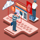 Isometric Infographic Thief Biometric Recognition - GraphicRiver Item for Sale