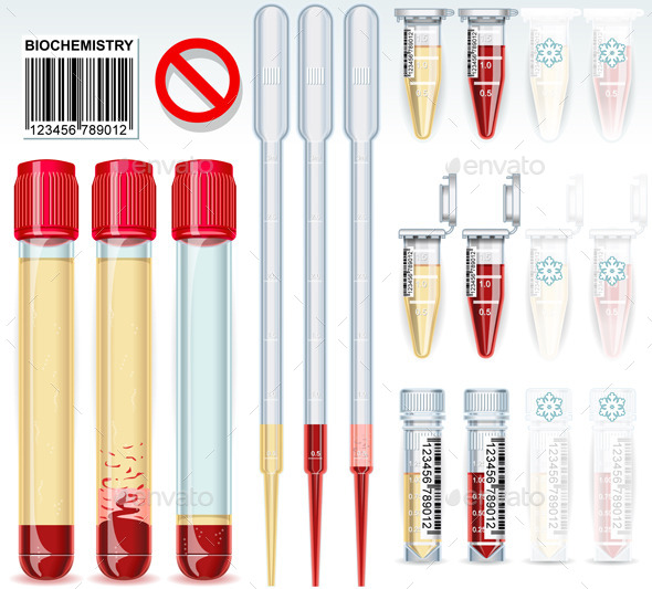 GraphicRiver Biochemistry Test Tube Complete Set 10511204