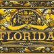 Vintage Florida Label Plaque in Black and Gold - GraphicRiver Item for Sale