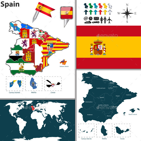 GraphicRiver Map of Spain 10511267