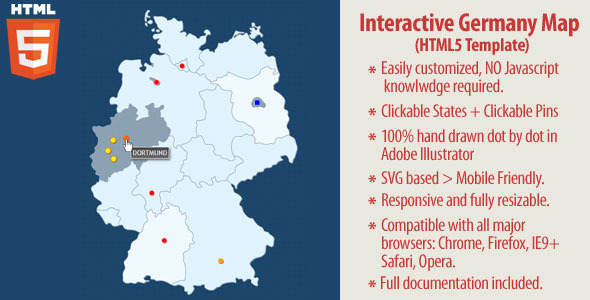 CodeCanyon Interactive Map of Germany HTML5 10511328