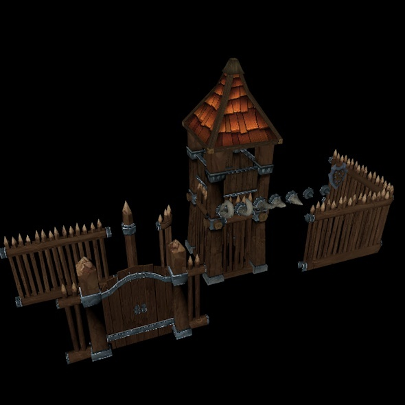 3DOcean Wooden Fortress 10511339