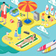 Isometric Beach Life - Summer Holidays Concept - GraphicRiver Item for Sale