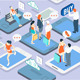 Isometric People Network Concept - GraphicRiver Item for Sale